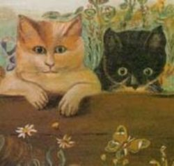 Lloyd Tyler Cats Painting