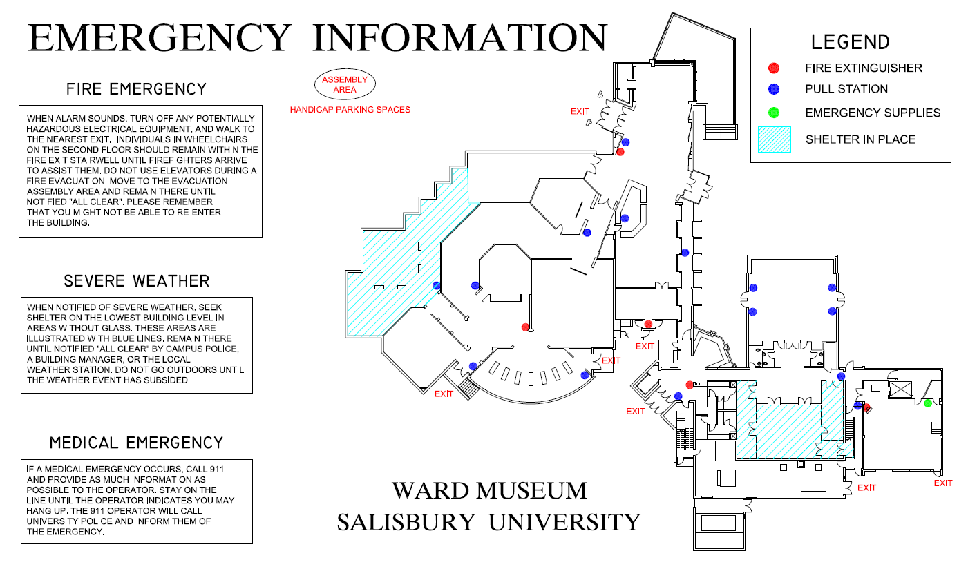 Emergency Information | Ward Museum of Wildfowl Art Salisbury MD