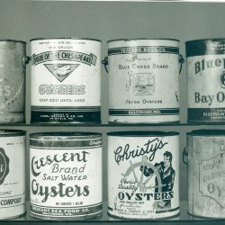 Oyster Cans From Ward Museum Photo Archive