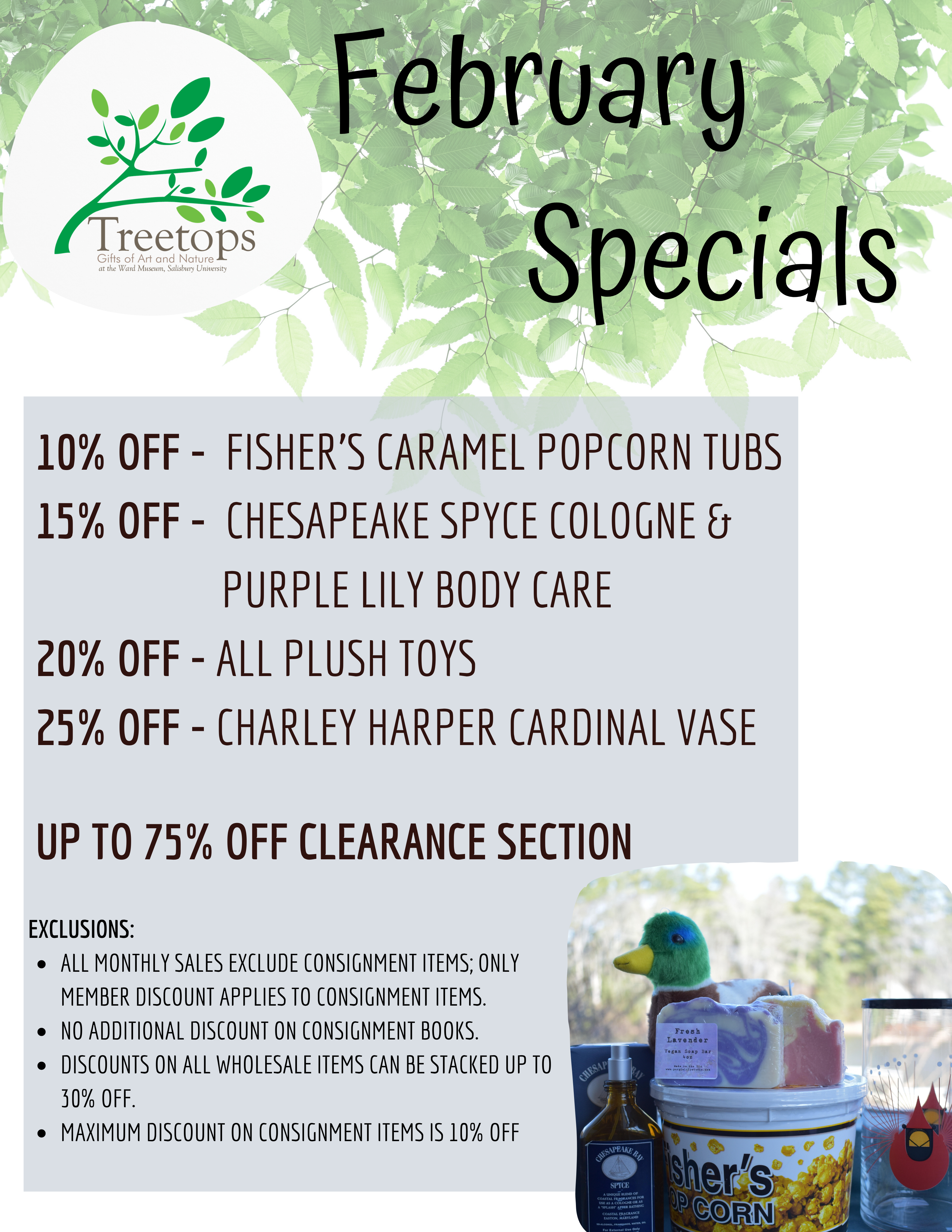 Treetops Monthly Specials Sign (4)