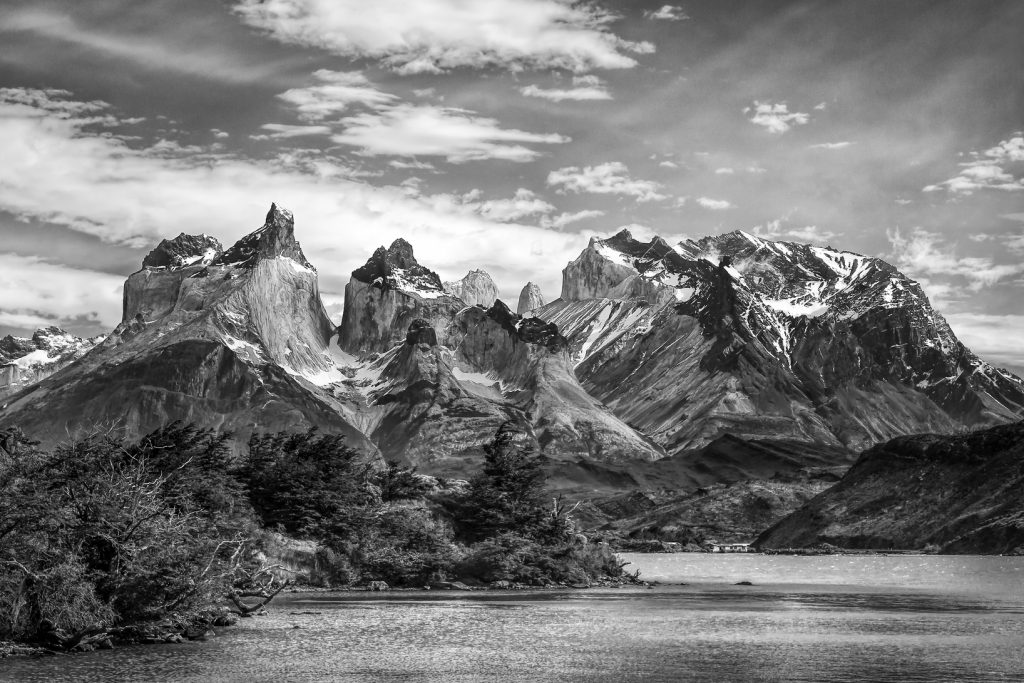 Black And White Second In Category Torres Del Paine Peaks By Dee Langevin