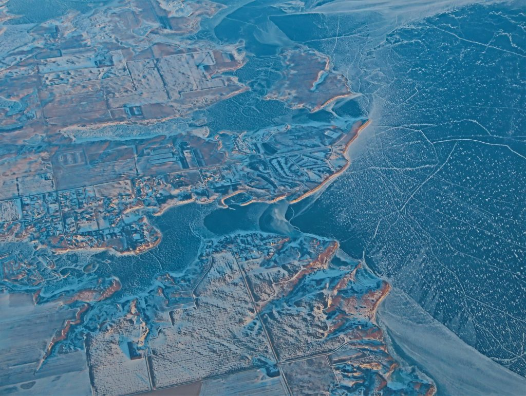 Drone And Aerial Photography Honorable Mention Winter Water Forms By Karen Seginak