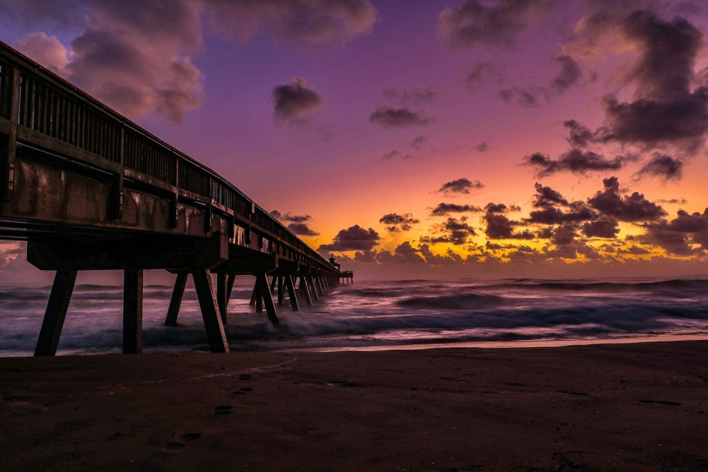 Long Exposure And Night Photography Third In Category International Fishing Pier At Sunrise By Keith Mortman
