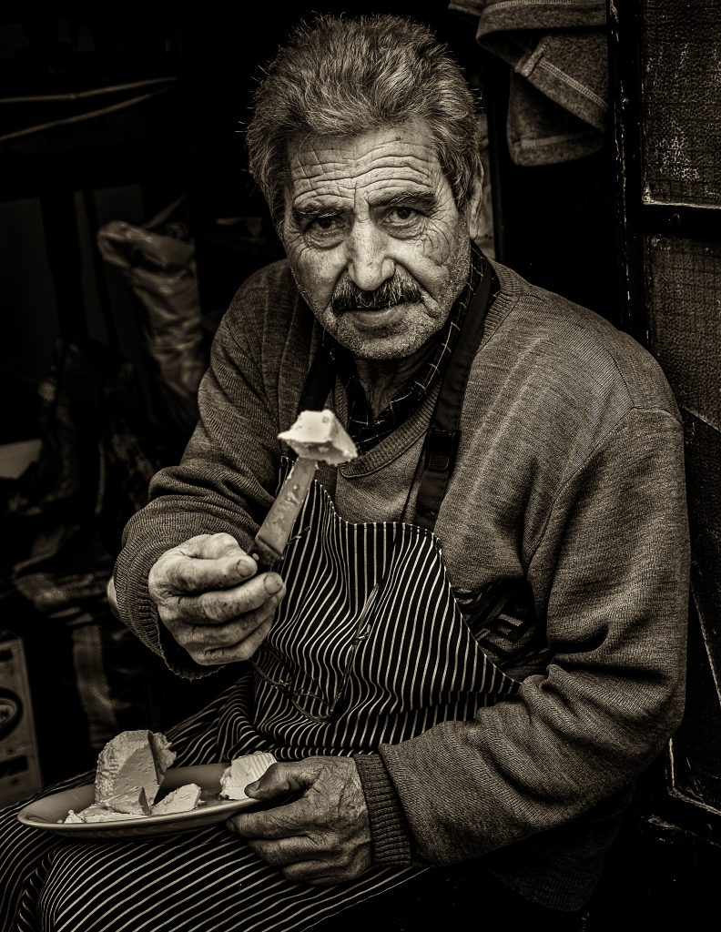 Portrait Photography Third In Category Cheese Monger Apeiranthos Greece By Martin Heavner