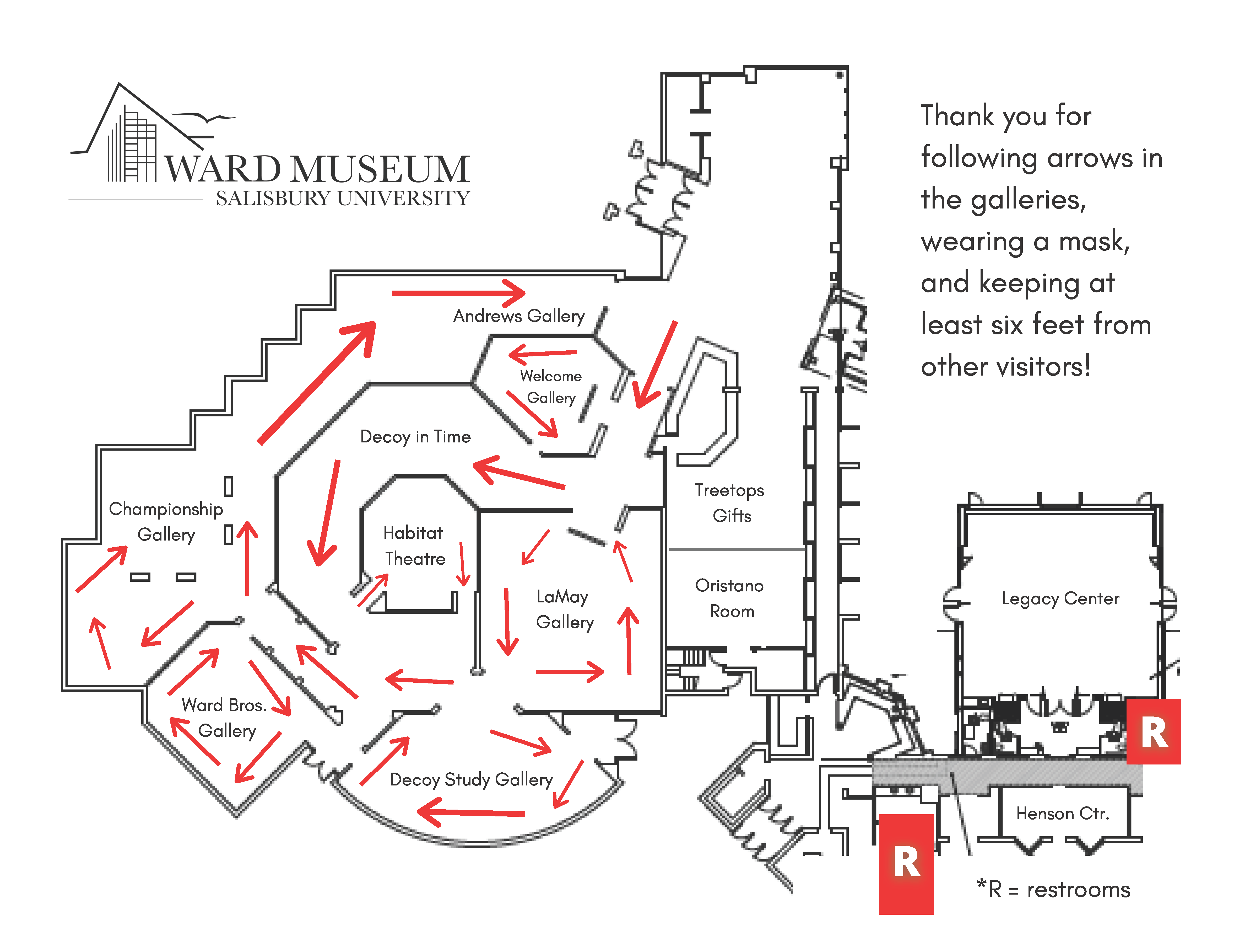 Ward Museum Map
