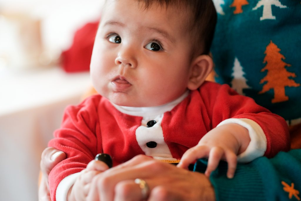 Youth Photography Honorable Mention Portrait Photography Baby's First Christmas By Isabella Kahn